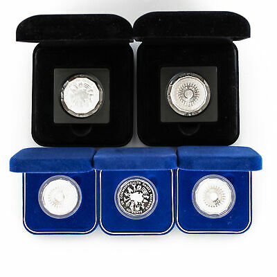 5x Sterling Silver 1989 50c Australian Proof Coins in Private Issue Boxes