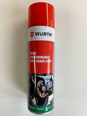****1 X 500ml WÜRTH HIGH PERFORMANCE DRY CHAIN MOTORCYCLE BIKE LUBE SPRAY****
