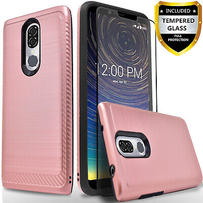 For Coolpad Legacy Phone Case, Drop Protection + Tempered Glass Protector+Stylus