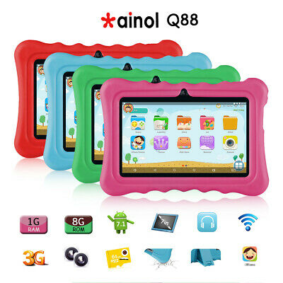 """7"""" Inch Android 7.1 Kid Tablet PC 1+8GB Quad core WIFI Bluetooth 2 Cameras OTG"""