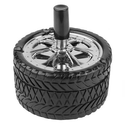 Car Tire Unique Design Cigarette Smoking Ashtray Office Bar with Windproof Cover