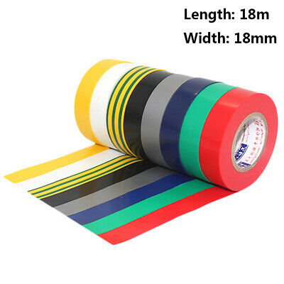 1Pcs PVC Electricians Electrical Insulation Tape White 0.2mmx19mmx10M /&T