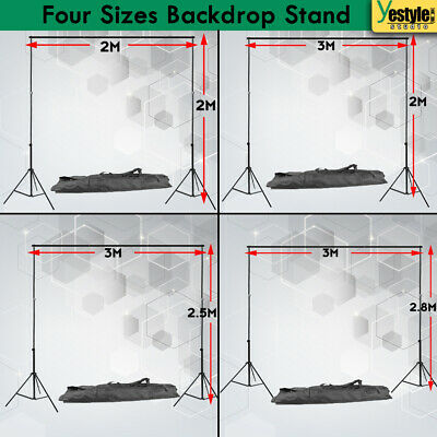 Heavy Duty Photography Backdrop Stand Kit Studio Adjustable Height Support Set
