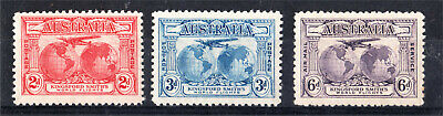 1931 Kingsford Smith Set 3 To 6D Mint (I48)