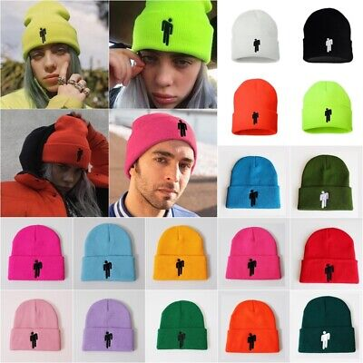 351d9454 2019 Womens Men Unisex Billie Eilish Beanie Hot Knit Hat Stretchy Cap Color  More