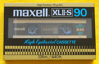 1x MAXELL XL II-S 90 Cassette Tape 1980 + OVP + SEALED +