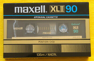 1x MAXELL XL II 90 Cassette Tape 1982 + OVP + SEALED +