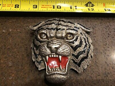 Vintage Tiger Metal Belt Buckle