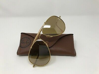 Vintage Ray Ban Bausch Lomb 1987 The General 50th Anniversary 24k Gold Aviators