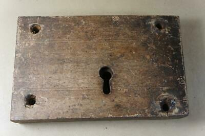 Antique wooden cased lock 225mm by 142mm by 40mm