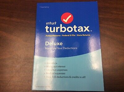 2018 TurboTax Deluxe Federal + E-File Software, For PC/Mac, Traditional Disc