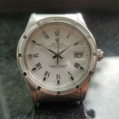 fbbf9df4638 ROLEX Men's Oyster Perpetual Date 15000 Automatic, c.1980s Swiss Luxury  LV686