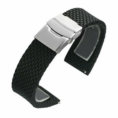 18/20/22/24mm Silicone Rubber Watch Strap Band Replacement Wristband Spring Bars