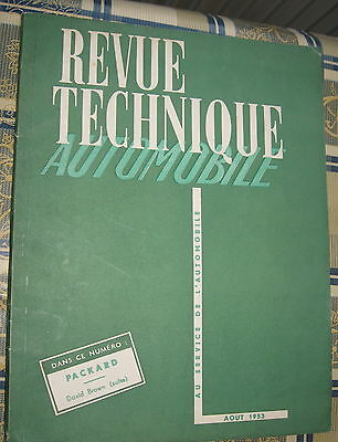 REVUE TECHNIQUE automobile n° 88..AOUT 1953..PACKARD 200...TRACTEUR DAVID BROWN