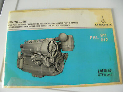 Catalogue Piece Rechange Moteur Deutz - F6L 911/ 912 (Z0150-66)