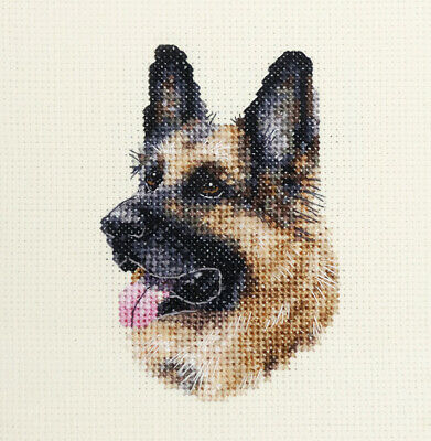 GERMAN SHEPHERD DOG, pup   ~  Full counted cross stitch kit + all materials