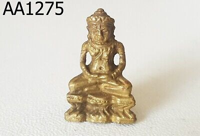 Powerful Angkor Wat Khmer Ancient Buddha Amulet Plate #aa1275g