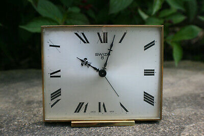 Vintage SWIZA 8 Day Alarm Clock - Swiss Made - Working