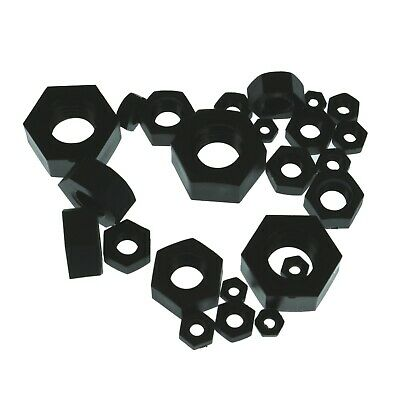 M2-M8 Black Nylon Hexagonal Nuts Washers Hex Pa66 M2 M2.5 M3 M4 M5 M6 M8