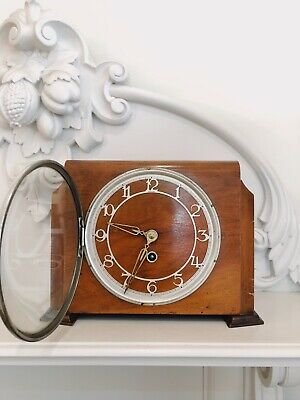 Newport Art Deco Antique Mantel Clock (8 Day Wind Up) Made In England