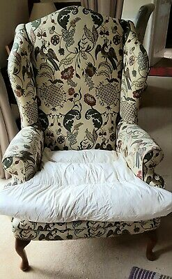 Reproduction Winged Arm Chair. From Stuart Interiors. Requires Restoration