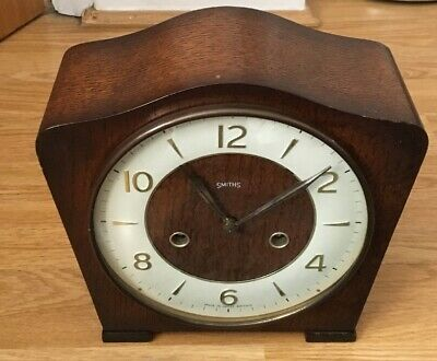 Vintage Smiths Mantle Clock For Restoration Spares or Repairs