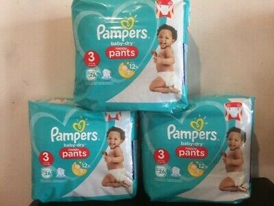PAMPERS- 78 Couches Culottes Baby-Dry Nappy  Pants Taille 3 (6-11kg)