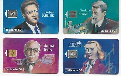 "France Telecom - N° 2 Phone Cards 50 - ""Les Grandes Figures Telecommunication"""