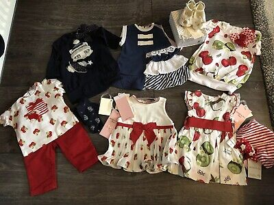 Monnalisa baby girls bundle some new with tags 0-3 months 10 items 5 BNWT