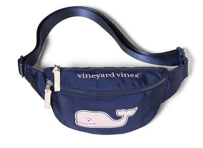 Vineyard Vines For Target Fanny Pack Belt Bag Pouch Blue Whale In Hand
