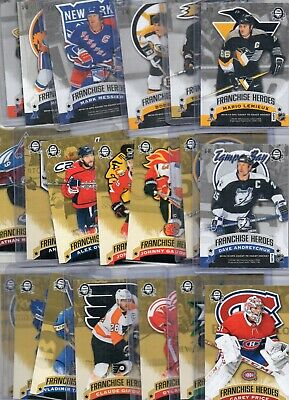 2018-19 OPC Coast to Coast Franchise Heroes 20 Card Complete Set