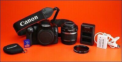 Canon EOS 550D DSLR Camera +18-55mm Zoom Lens Kit + Battery, & USB Charger