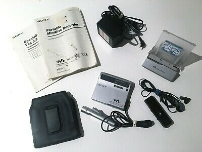 Sony Walkman Net Md Mz-N1 Mini Disc Recorder / Player + Remote + Cradle + More