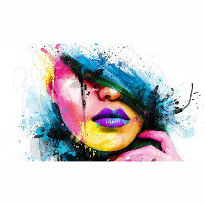 HD Canvas Printing Oil Painting Wall Decor Girl HUGE MODERN ABSTRACT Lips 22X38""