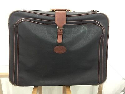 Mulberry Large Clipper Albany Scotchgrain Duffle Bag Holdall Leather Wheels Keys
