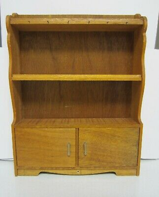 Child's Toy Wood China Cupboard Vintage 1960s