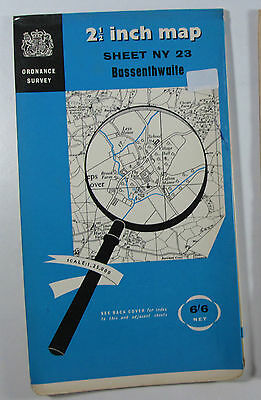 1959 old OS Ordnance Survey 1:25000 First Series Prov Map NY 23 Bassenthwaite