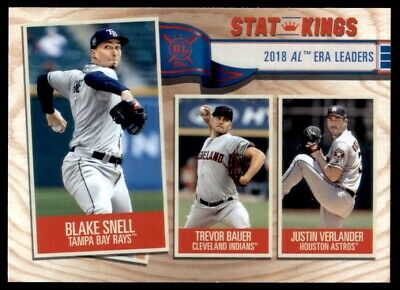 2019 Topps Big League Base Stat Kings #363 Verlander Bauer Snell