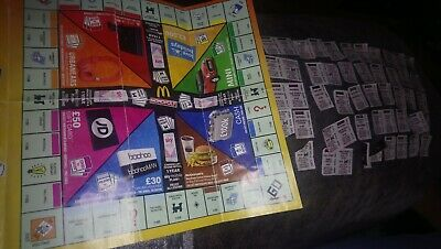 Joblot x50 Monopoly McDonalds 2019 various tokens mostly all need 1 to complete