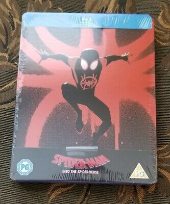 Spider-man Into the Spider-verse (Blu-ray) Zavvi Steelbook W/ Protective Cover
