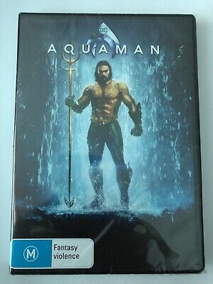 aquaman DVD 2019 Brand New & Sealed DC Universe Movie 🍿 Rated M Region 4 Aus