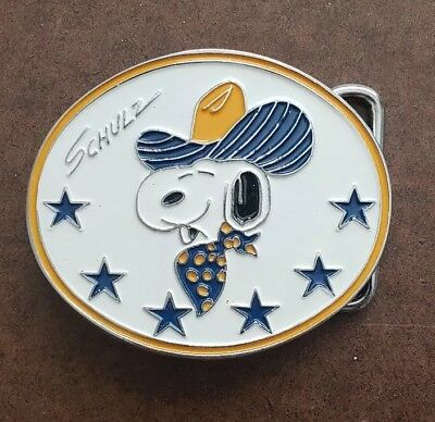 Vintage 1958 Snoopy Peanuts Belt Buckle