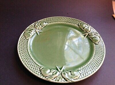 "Bordallo Pinheiro Portugal Green Rabbit Plate 10 1/8"" Excellent Never Used"