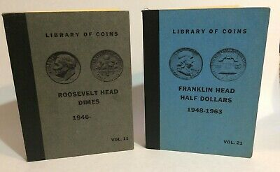 Library of Coins less common 3rd edition #11 Roosevelt dimes #21 Franklin halves