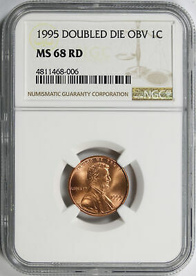 1995 DDO Doubled Die Obverse 1c Lincoln Cent NGC MS68 RD