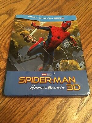 Spider-man Homecoming 3D [2017] (Blu-ray 3D+2D Region-Free)Steelbook Frenc Ver