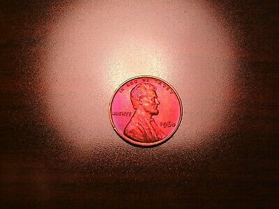 1960 P Small Date Lincoln Cent Bu With Beautiful Toning