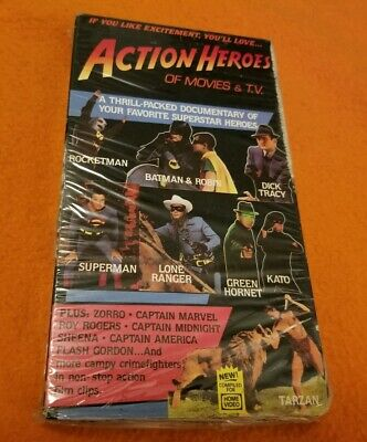 Action Heroes of Movies & T.V. VHS uncommon OOP HGV