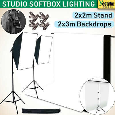 Studio Photography Softbox Lighting Stand Photo Video Backdrop Support Stand Kit