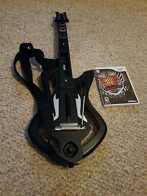 Nintendo Wii Guitar Hero Warriors of Rock Guitar Controller w/ Game
